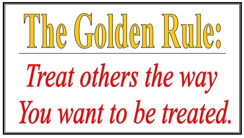 Treat others the way you want to be treated clipart.