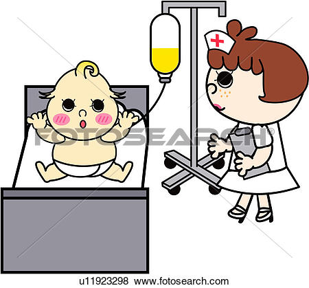 Clip Art of people, treatment, job, baby, nurse, medical u11923298.