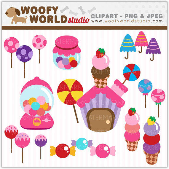 Items similar to Lollipop Candy Land Sweet Treats Clipart.