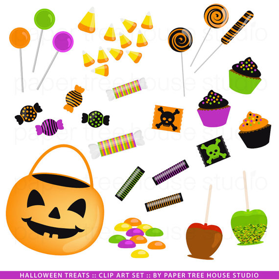 Halloween Treats Clipart.
