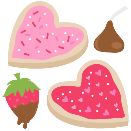 Valentines day treats clipart.