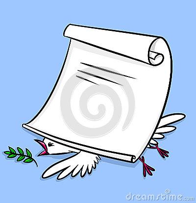 Treaty Clipart Peace Treaty Pax Dove #TcRH0F.