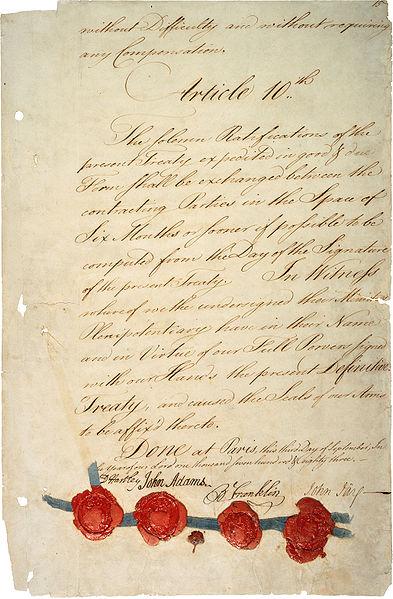 Treaty Of Paris 1783 Clipart.