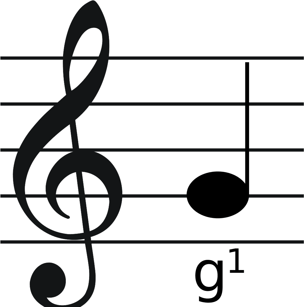 Music Treble Clef.