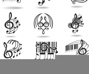 Treble Clef On Staff Clipart.
