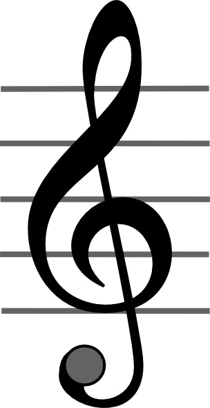 Treble Clef clip art Free vector in Open office drawing svg.