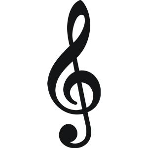 Free treble clef clip art.