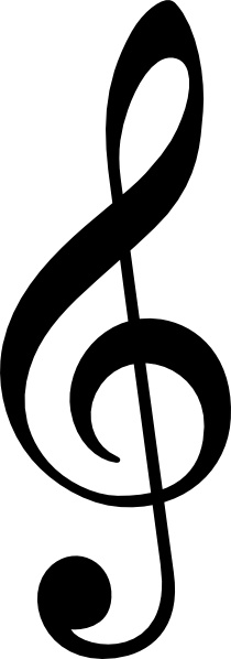 Treble Clef Without Line clip art Free vector in Open office.
