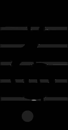 Treble clef vector image.