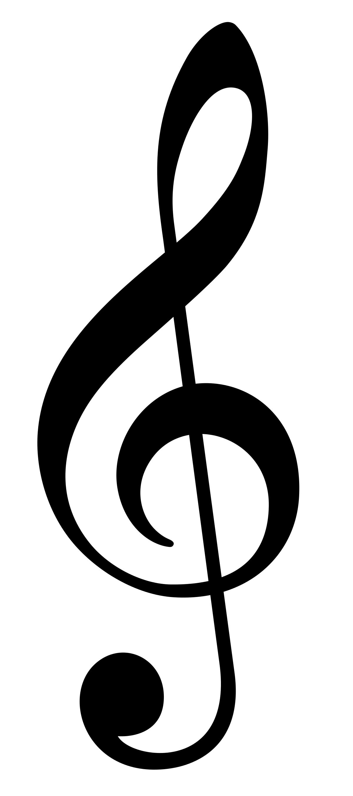 File:Treble Clef without line.svg.