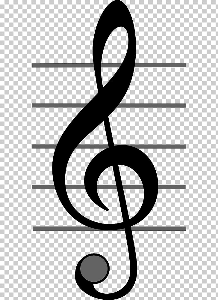 Clef Treble Musical note , Treble Clef PNG clipart.