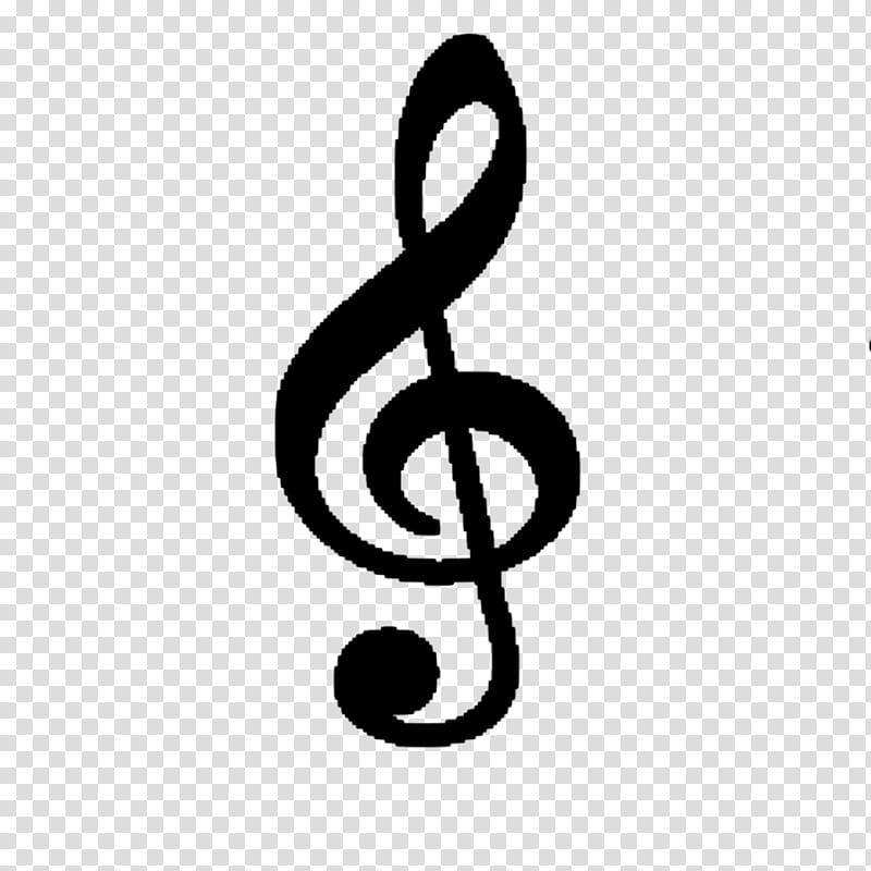 Treble clef symbol transparent background PNG clipart.