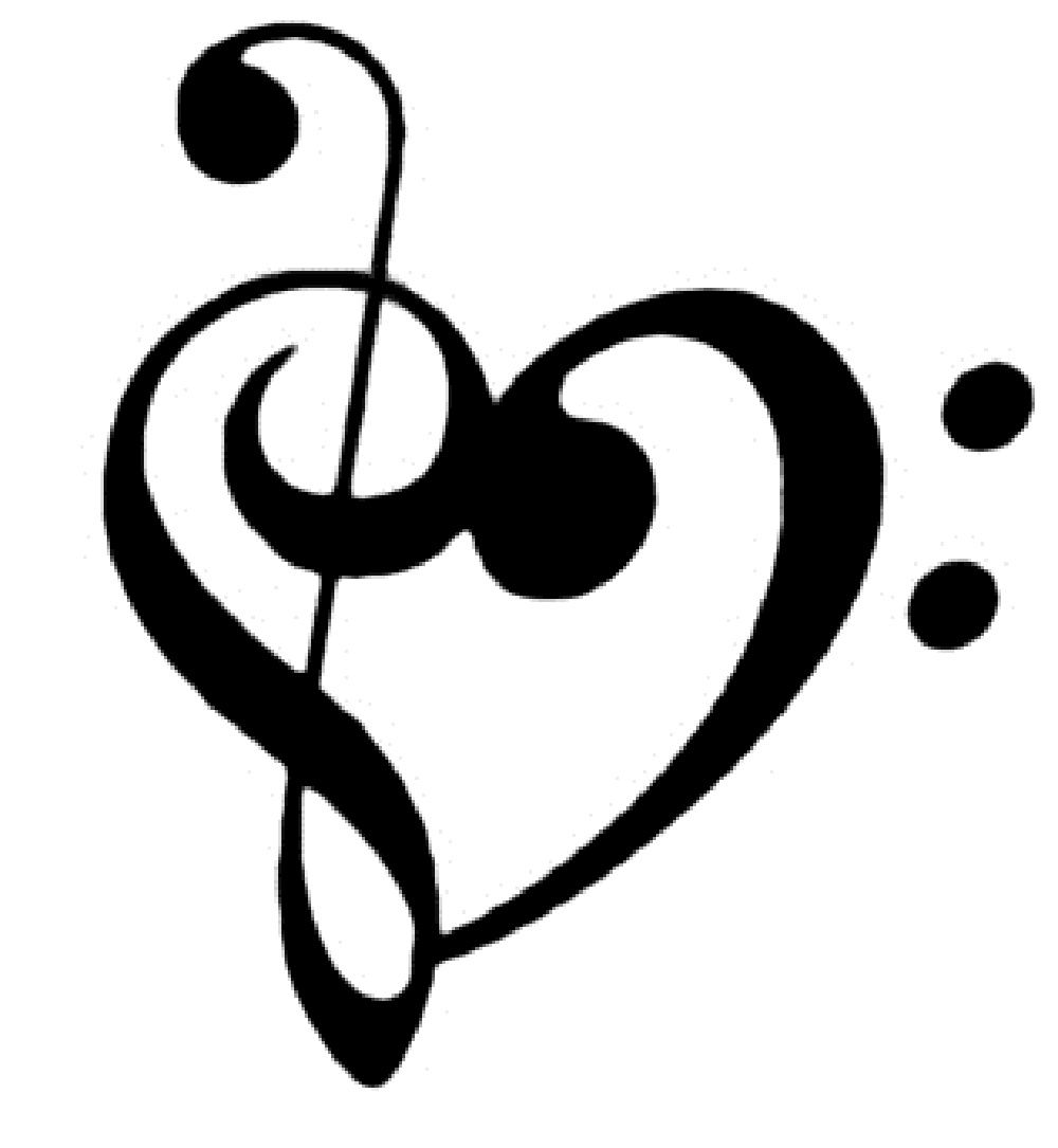 Music heart clipart free in 2019.