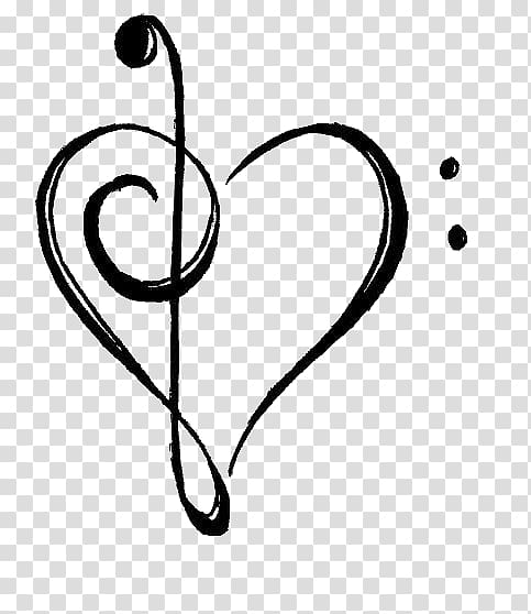 Musical note Drawing Treble , musical note transparent.
