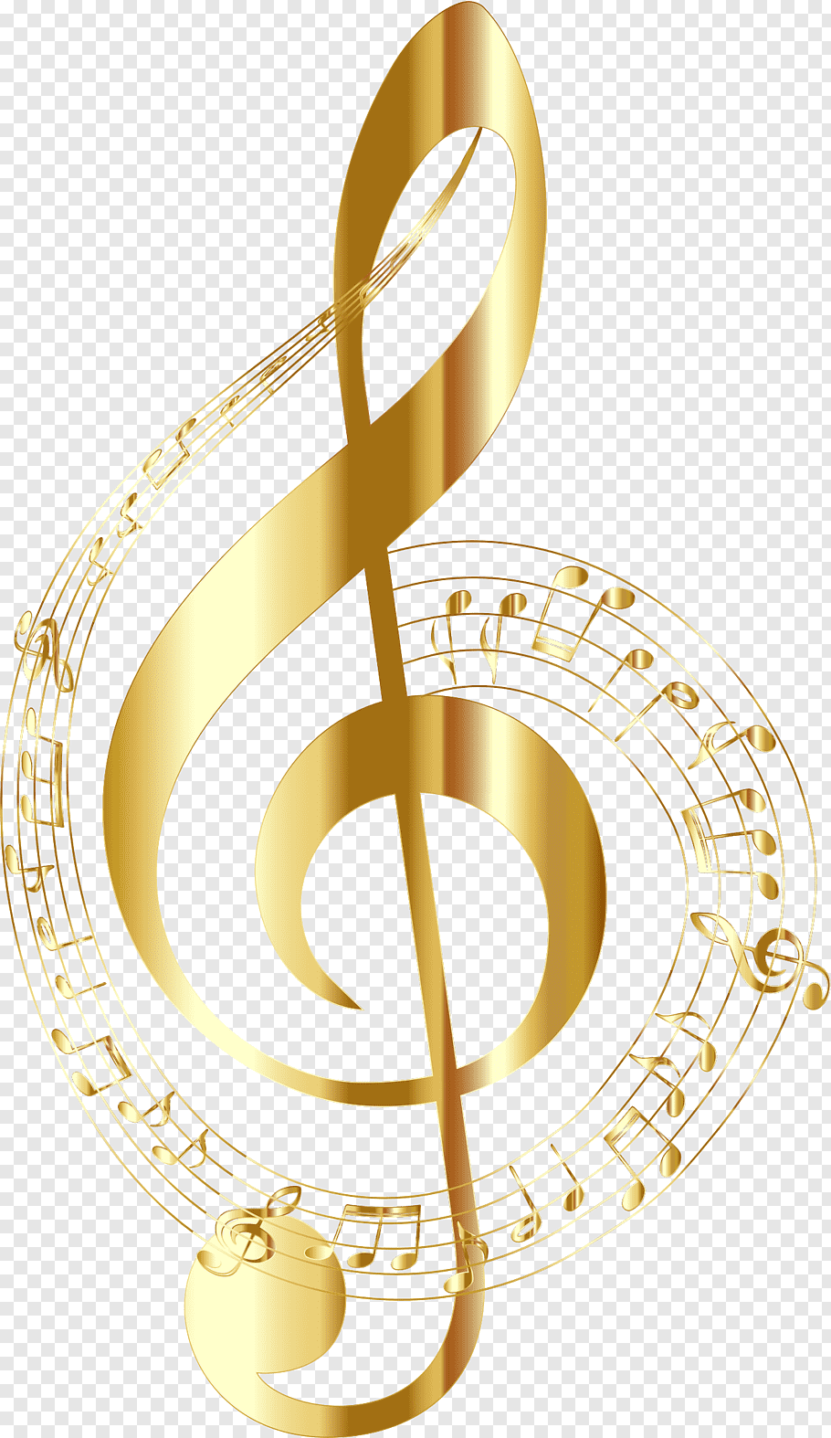 Gold g clef illustration, Musical note Staff Clef, musical.
