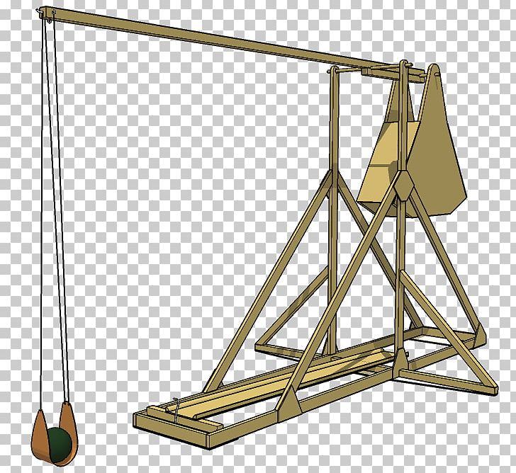 Catapult Trebuchet Counterweight Lever Mechanism PNG.