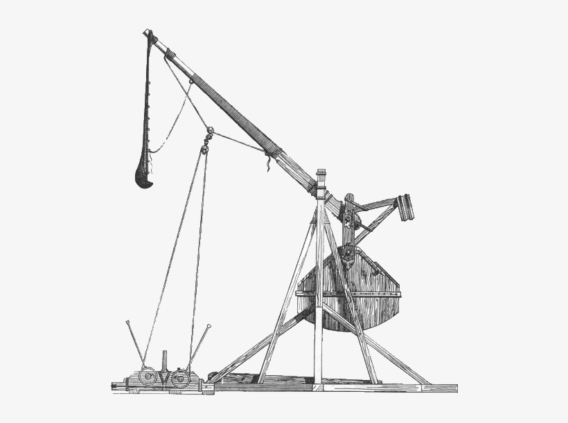 Trebuchet Drawing Catapult.
