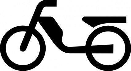 Moped Aus Zusatzzeichen clip art Clipart Graphic.