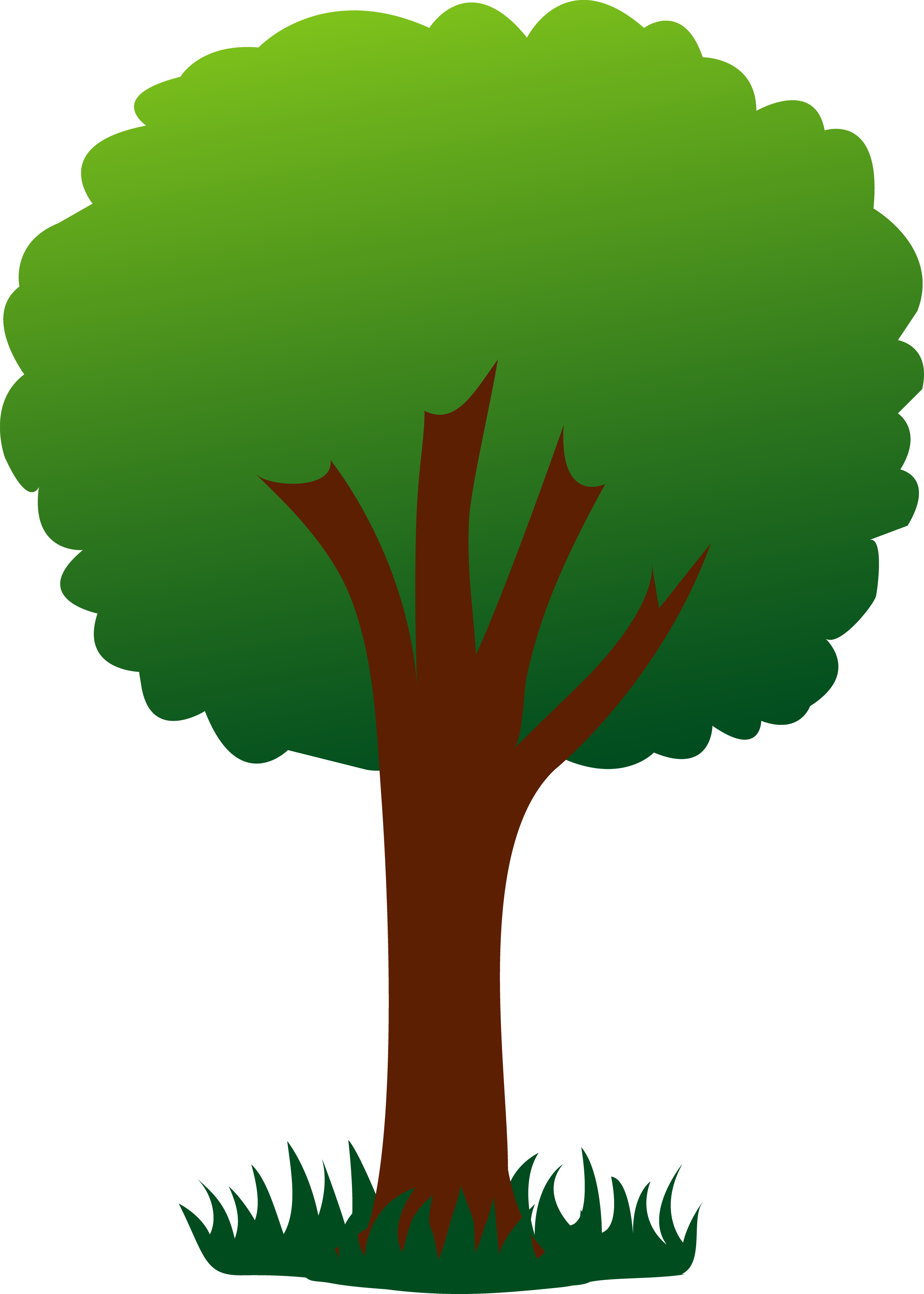 Simple Green Tree in Grass.