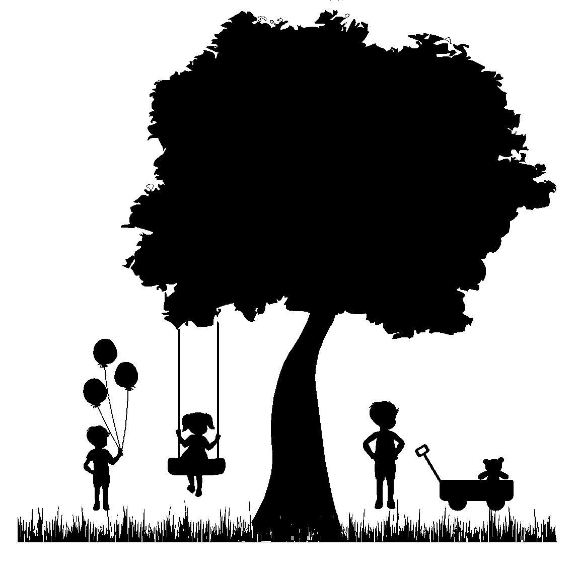 A Child\'s Garden silhouette 24 x 24.