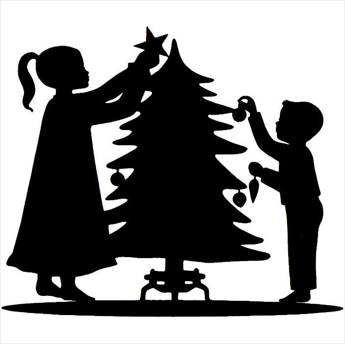 Free Xmas Tree Silhouette, Download Free Clip Art, Free Clip.