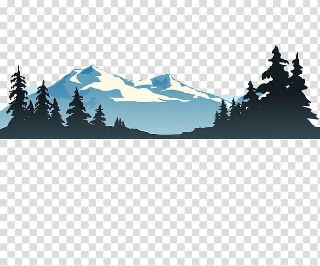Mountain and trees illustration, Lake , mountain transparent.