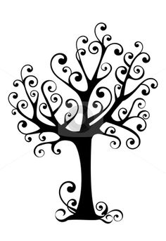 Tree And Path Clipart Black And White.