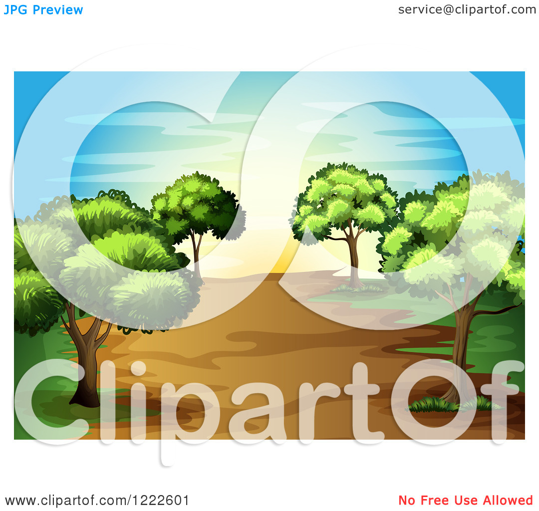 Tree And Path Clipart.