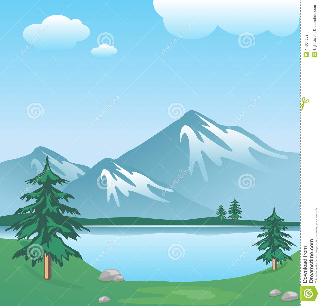 Snowy Mountain Peak Stock Illustrations  1475 Snowy