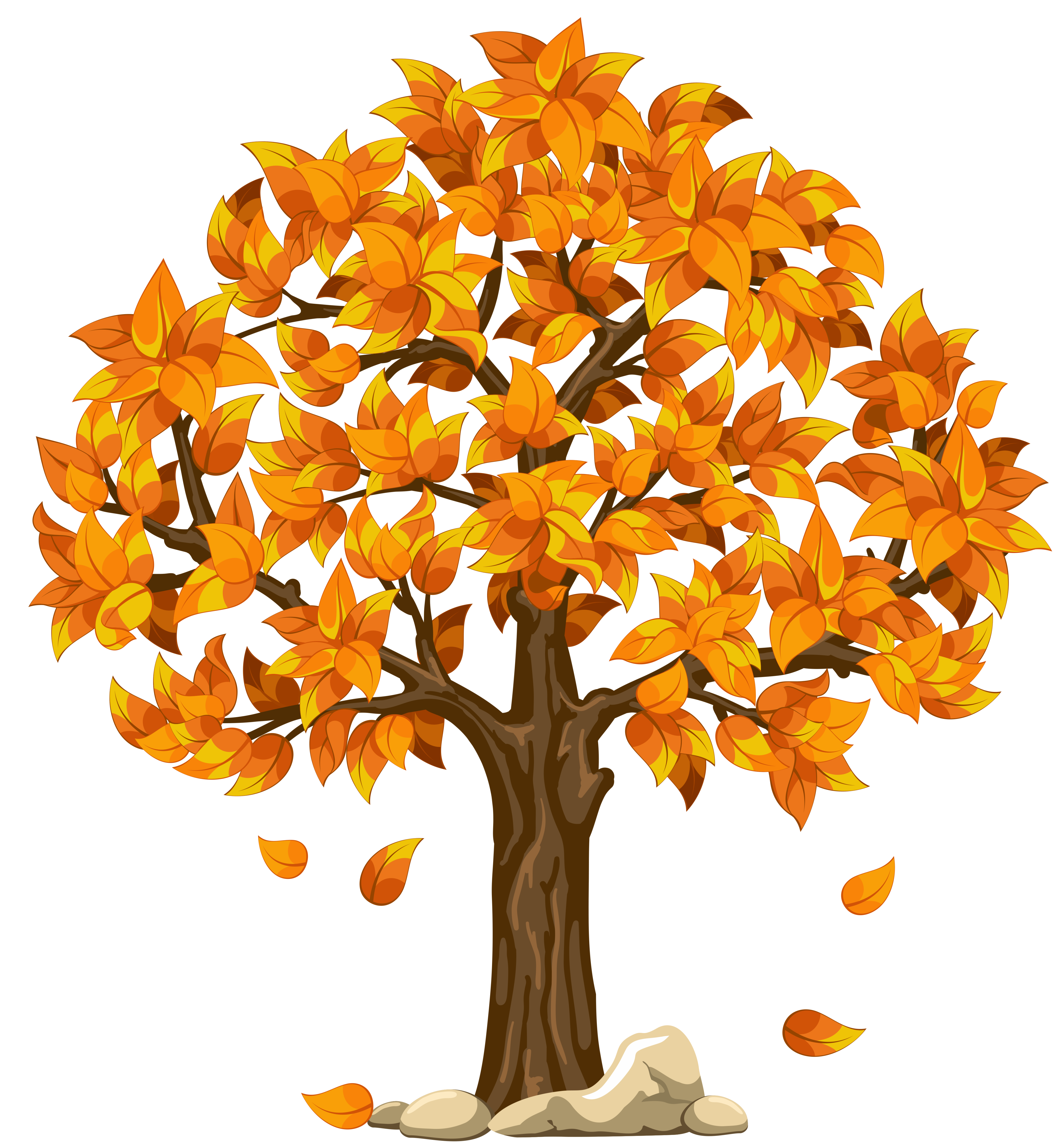 Yellow fall tree clipart.