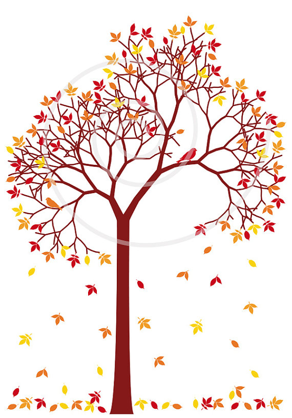 Cute Fall Tree Clipart.