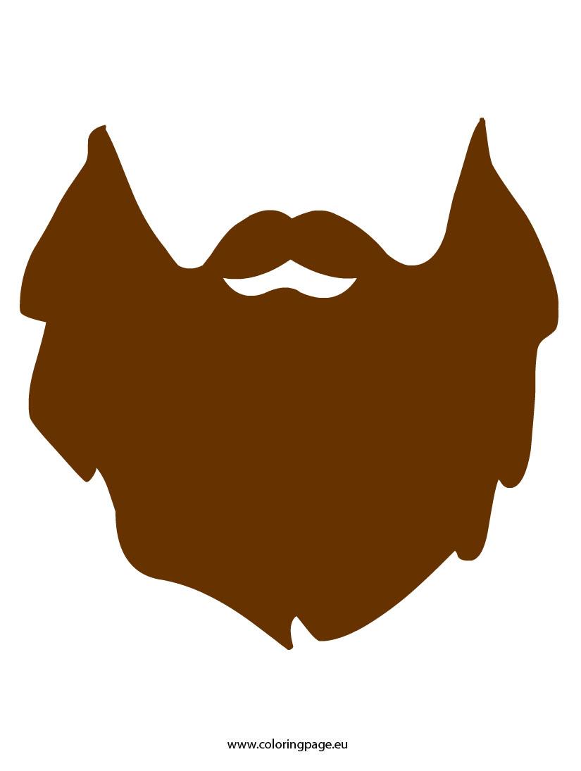 Lumberjack beard clipart.