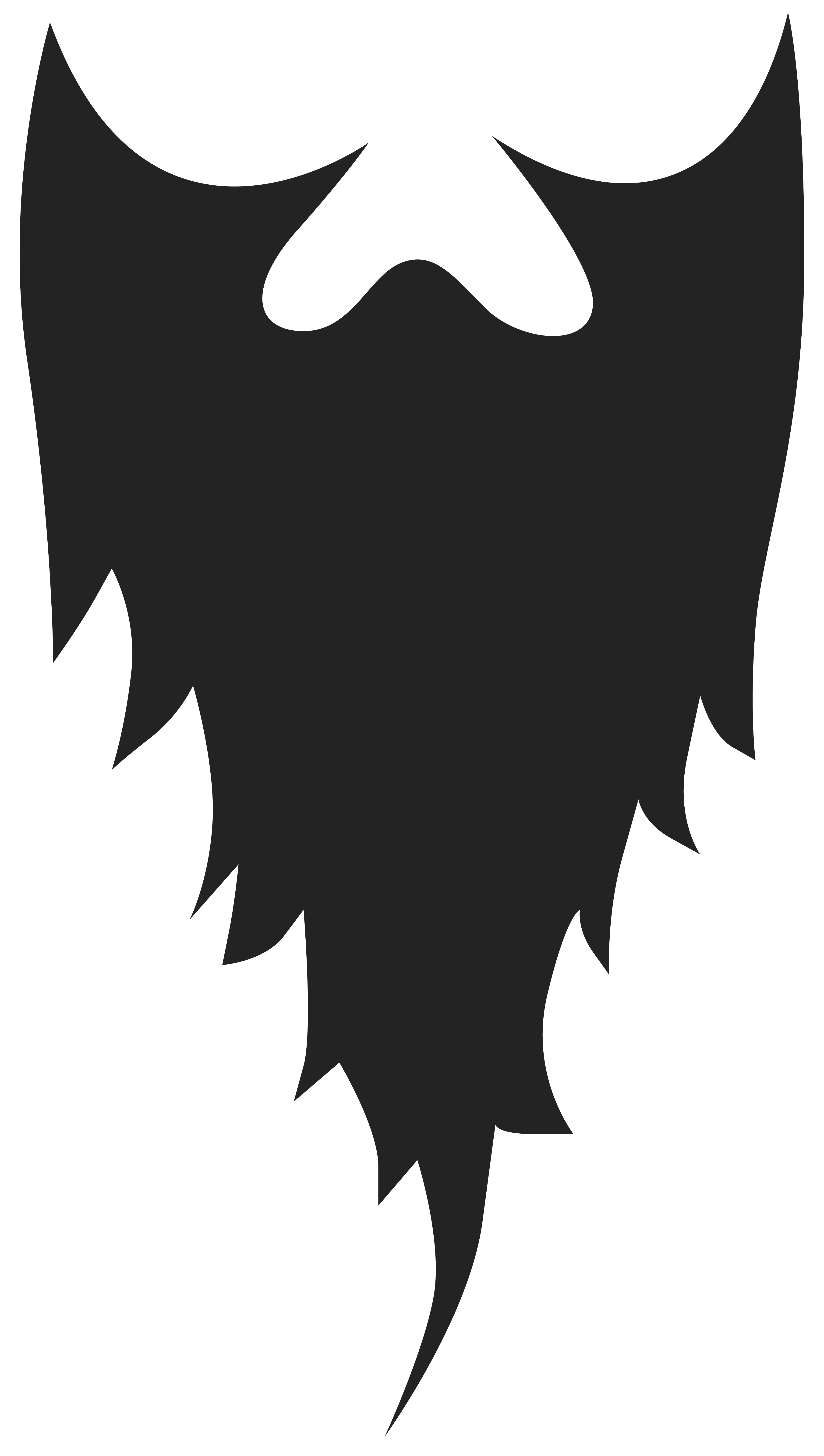 Movember Beard PNG Clipart Image.
