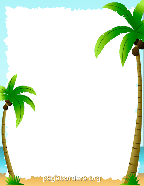Palm Tree Border: Clip Art, Page Border, and Vector Graphics.