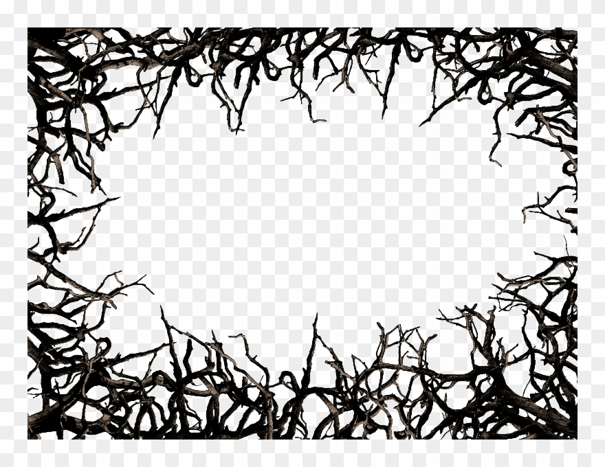 Dead Tree Branch Frame Border Png Clipart Free.