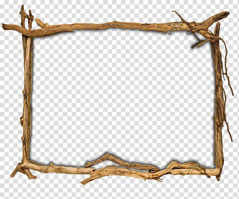 Brown branch border illustration, Frames Wood Tree Furniture.