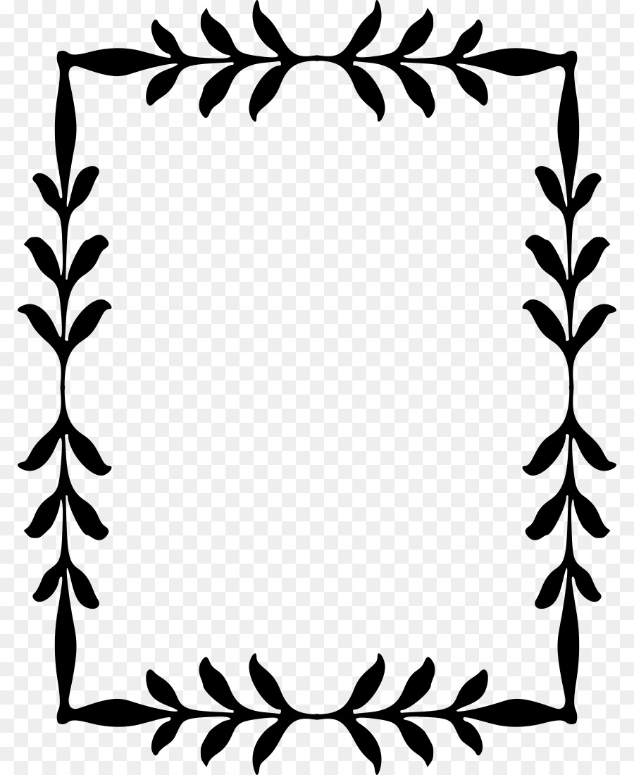 Border Design Black And White png download.