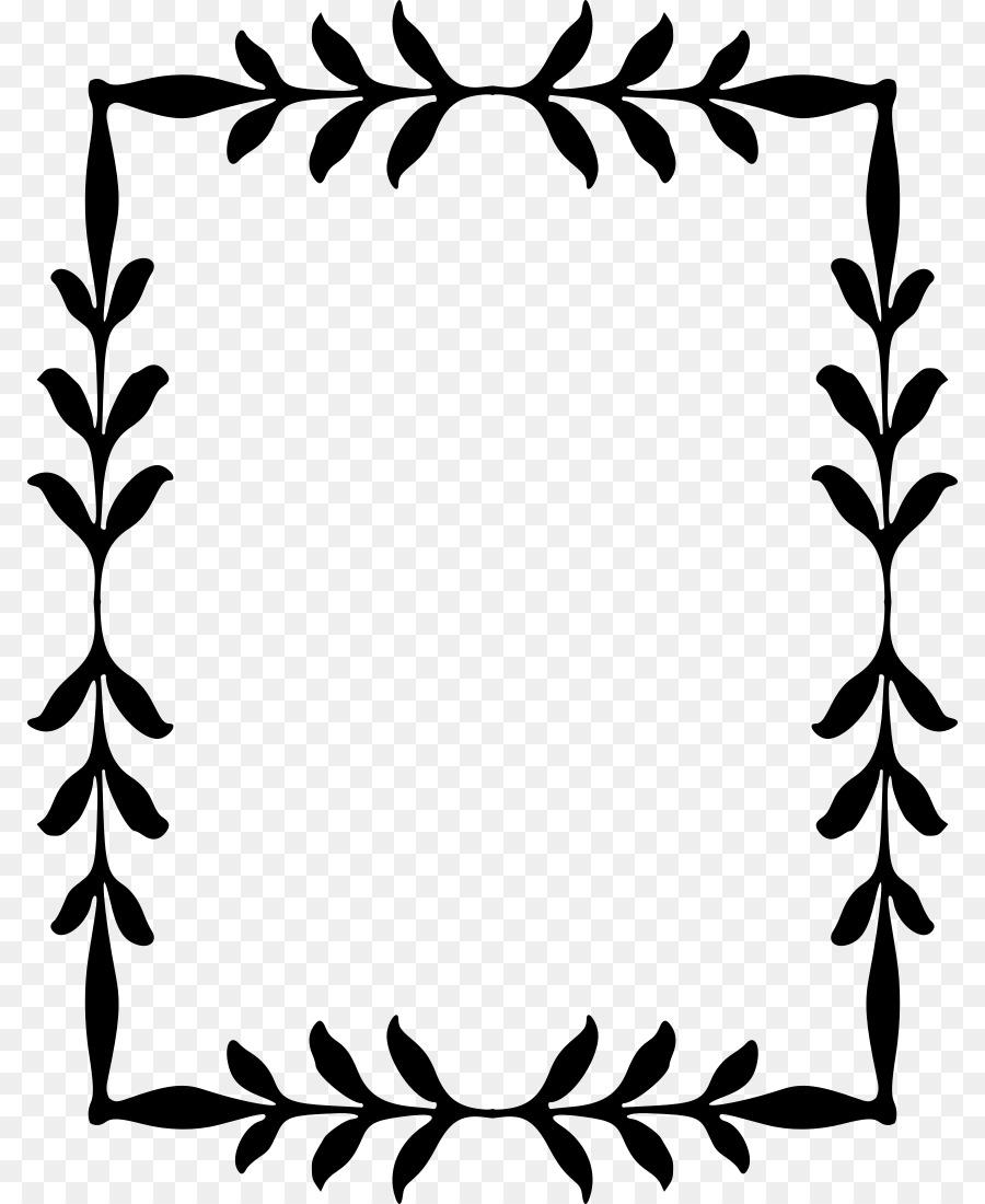 Border Design Black And White png download.