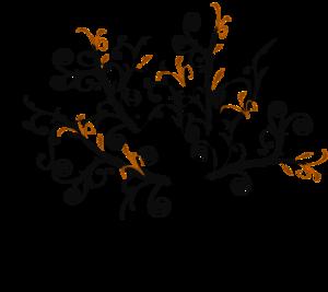 Branch Vine Swirl clip art.