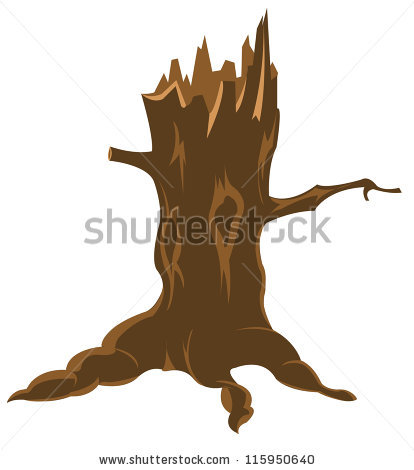 tree broken clipart #2