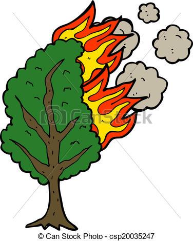 Burning Wood Clipart Tree burning clipart -...