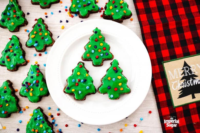 Copycat Little Debbie Christmas Tree Brownies.
