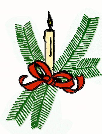 Free Christmas Candles Clipart, 2 pages of Public Domain Clip Art.