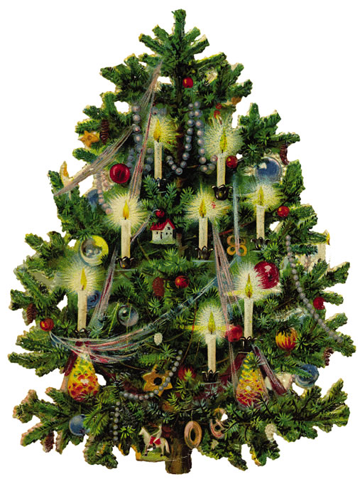 Christmas Tree Candles Clipart Free.
