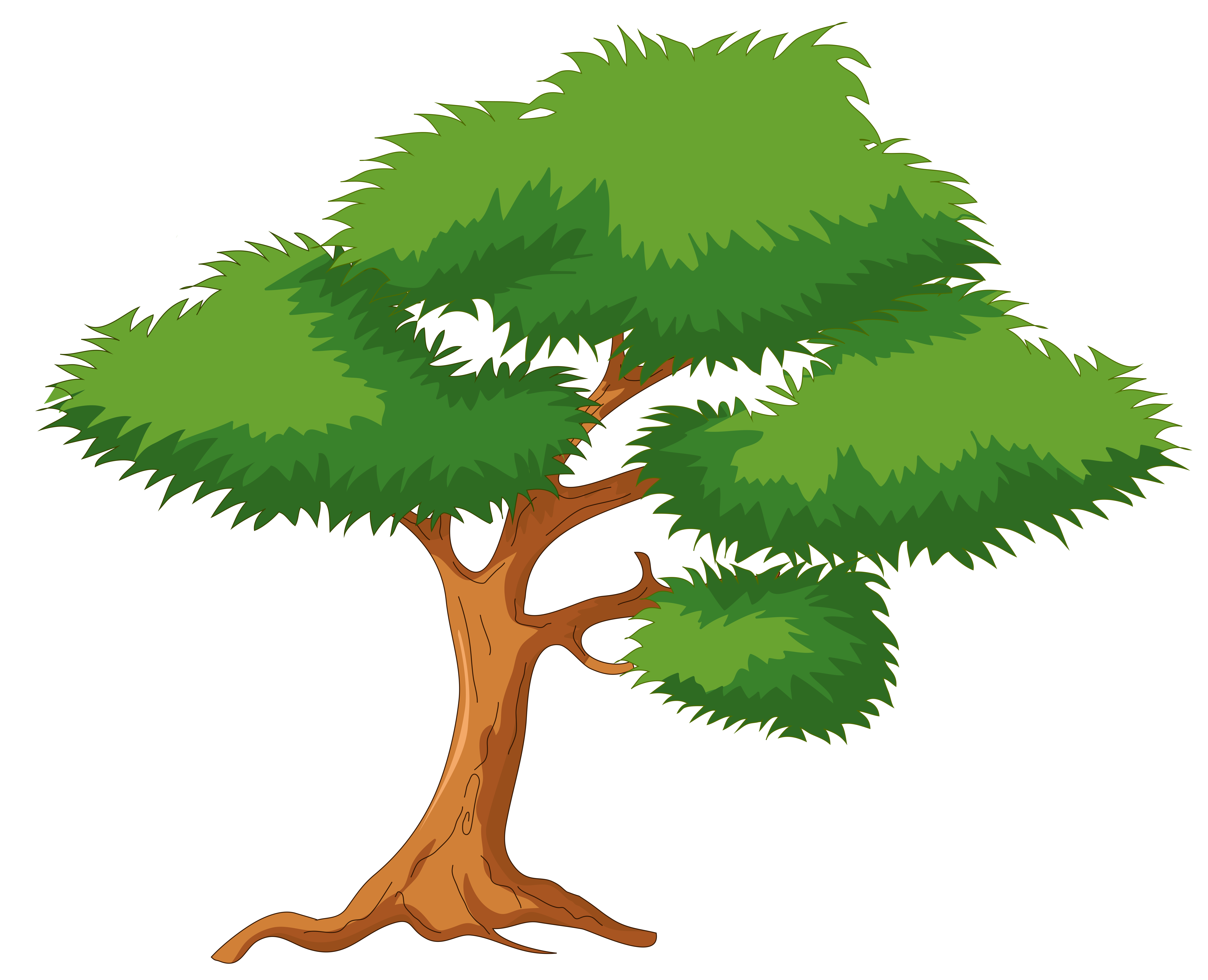 Green Cartoon Tree PNG Clip Art.