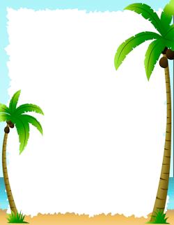 Palm Tree Border.
