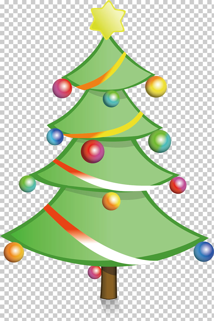Christmas tree , Simple color Christmas tree material PNG.