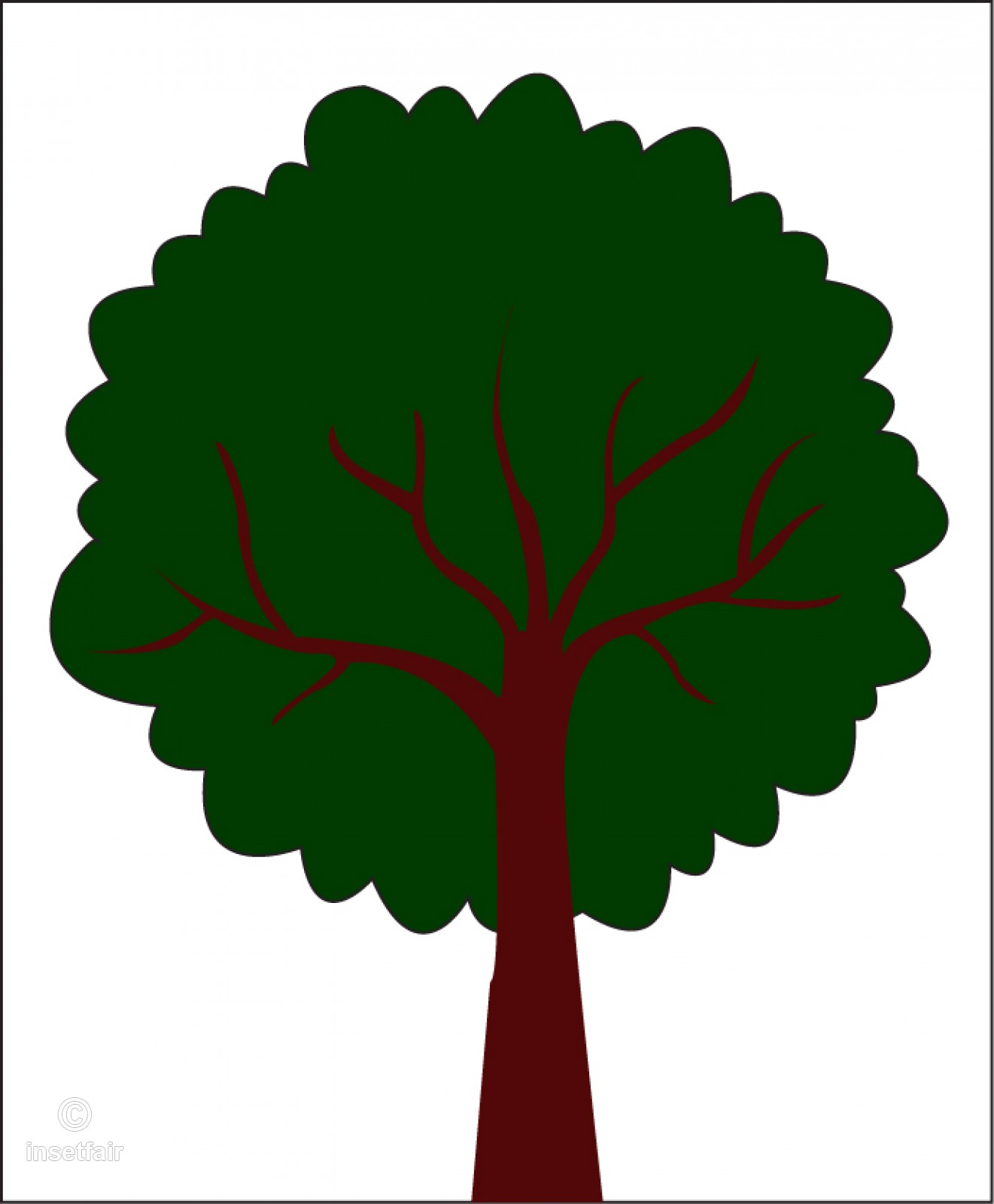 Simple green tree clipart.