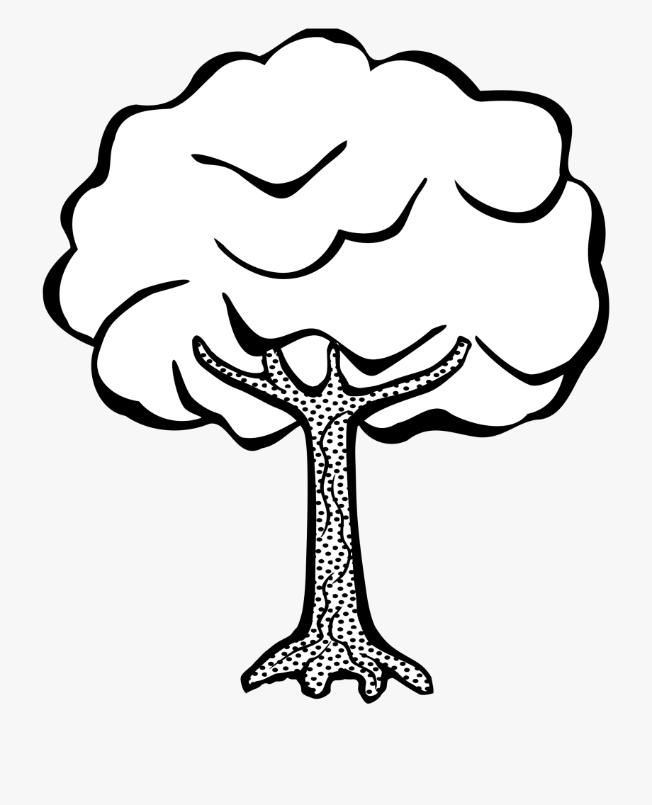 Tree Clipart Black And White Png.