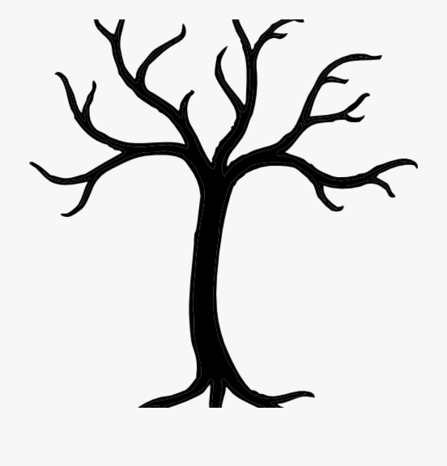 Tree Clipart Black And White Free Tree Stencils Black.